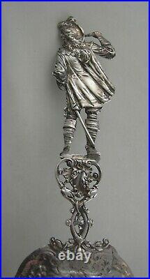 Sterling Dutch souvenir spoon Large- late 19th Century