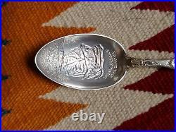 Sterling Silver COLORADO Springs Garden of the Gods Indian Miner Souvenir Spoon