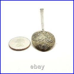 Sterling Silver Coconut Palm Tree Honolulu Hawaii Souvenir Spoon Gold