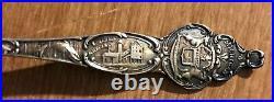 Sterling Silver Decorator Spoon has C&H Copper Mine on Handle also MI seal