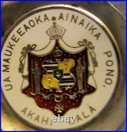 Sterling Silver, Gilt, & Enamel Hawaiian Kamehameha Souvenir Spoon