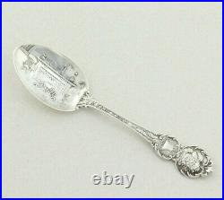Sterling Silver Merry Christmas Santa Clause Souvenir Spoon 5 Inches Overall