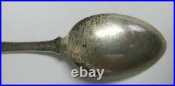 Sterling Silver Navajo Indian Sawstika Whirling Logs Good Luck Souvenir Spoon