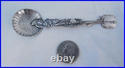 Sterling Silver Souvenir Spoon Japanese Geisha