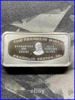 The Franklin Mint Solid Sterling Silver Bar Tracy Collins Salt Lake City Utah