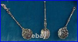 Twenty Antique Continental Grand Tour & America Sterling Silver Souvenir Spoons