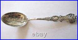U. S. Asiatic Squadron Dewey Sterling Silver Souvenir Spoon (#1118)