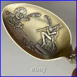 Uncle Sam Sterling American Eagle Political Spoon Vintage