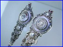 Variety Lot of 8 STERLING Souvenir Spoons COLLEGE & UNIVERSITY figural Nice Ones