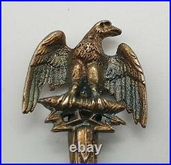 Very Nice Sterling Silver Napoleon Enamel Bowl Souvenir Spoon Circa 1900