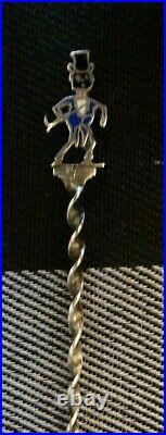 Very RARE, Antique Sterling CAKE WALK DANCE Souvenir Spoon BLACK AMERICANA