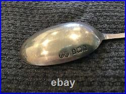 Very Rare 1907 Rms Lusitania Cunard Line British Sterling Silver Souvenir Spoon
