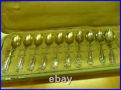 Vintage Collection late 1800's Sterling Silver Spoons, Some Souvenir, VERY RARE