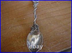 Vintage Daniel Low Gorham Sterling Witch Cat Souvenir Spoon 4 1/4
