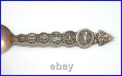 Vintage FLINT MICHIGAN VEHICLE CITY Sterling Silver Souvenir Spoon