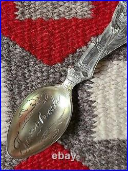 Vintage Figural Miner Tonopah Nevada'Struck It At Last' Sterling Silver Spoon