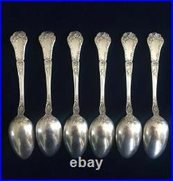 Vintage Gorham/Poppy Pattern/Sterling Silver Teaspoon -Set of 6