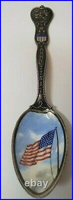 Vintage Gorham Sterling 1898 Army & Navy Spoon Spanish American War Era