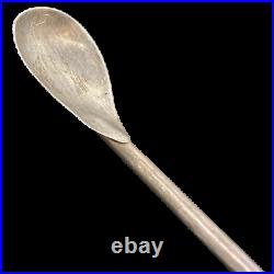 Vintage John Hasselbring Sterling Silver Cocktail Spoon with Horn Handle