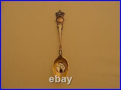 Vintage Sterling Silver Atlanta Georgia Cotton Enamel Souvenir Spoon