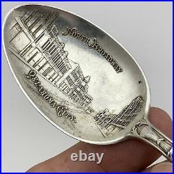 Vintage Sterling Silver Souvenir Spoon Oklahoma City 925 Engraved Early 1900s