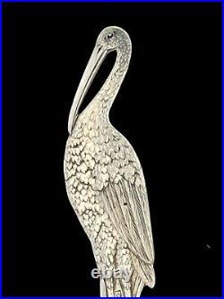 Vintage Sterling Silver Wallace Watson Stork Souvenir Spoon