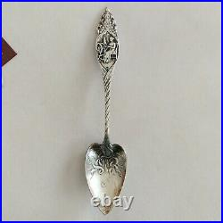 Vtg'HOME & COUNTRY' Durgin Sterling Spoon Betsy Ross Patriot Stars Flag History