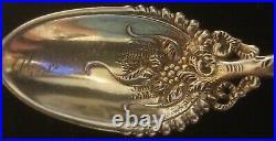 Whiting 2888 Sterling Silver & Ivory Demitasse Cincinnati Souvenir Spoon ca1890