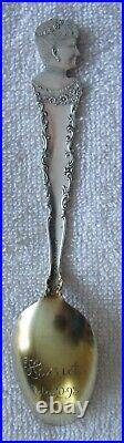 Womans Building Columbian Exposition 1893 Worlds Fair sterling silver spoon
