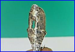 Yellowstone Park Figural Bear Glass Eyes Sterling Silver Souvenir Spoon